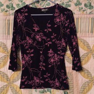 BRIGGS 3/4 sleeve vneck blouse